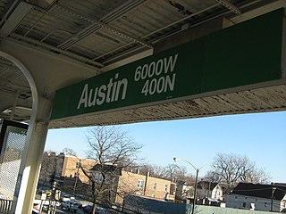 "Austin station (CTA Green Line) Chicago ""L"" station"