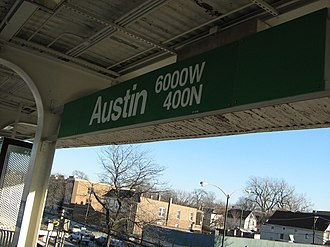 Austin station (CTA Green Line) - Image: Austin green line
