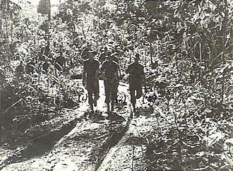 Battle of Tsimba Ridge - Image: Australian patrol around Tsimba Ridge February 1945 (AWM image 079148)