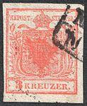 Austria 1850 3Kr Ia laid paper.jpg