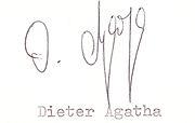 Autogramm Dieter Agatha