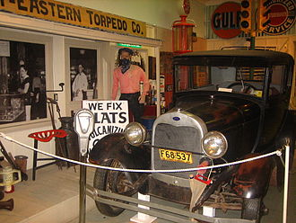 Hutchinson County Historical Museum - Image: Automotive exhibit at Boomtown Revisited Picture 2108