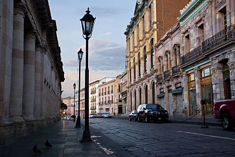 Zacatecas City - Avenida Hidalgo in the historic center