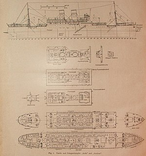 Blue Star Line - Plans for the liners Avila and Avelona, built in 1926–27