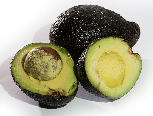 Avocado Whole and Crossection