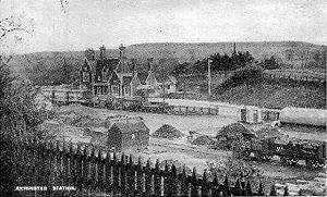 Axminster railway station - The station in the early years of the twentieth century.