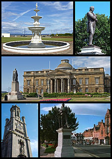 Ayr town and former Royal Burgh situated on the west coast of Ayrshire in the Scotland