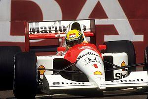 McLaren MP4/6 - Image: Ayrton Senna Mc Laren MP4 6 1991 United States