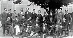 Azerbaijani students in Paris celebrating Independence Day (28 May 1920).jpg