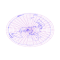 Azimuthal equidistant projection of world with grid.png