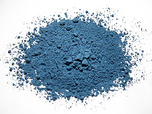 Azurite - Ground azurite for use as a pigment