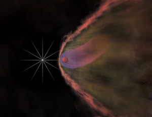An artist's impression of the optical and X-ra...