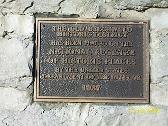 Clintonville, Columbus, Ohio - Plaque placed at the entry to Old Beechwold