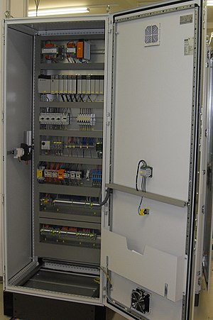 Enclosure (electrical) - Allen Bradley PLC installed in an electrical enclosure