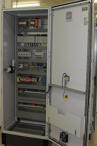 Electrical enclosure - Allen Bradley PLC installed in an electrical enclosure
