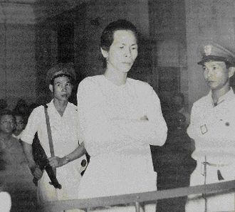 Vietnam War - Ba Cut in Can Tho Military Court 1956, commander of religious movement the Hòa Hảo, which had fought against the Việt Minh, Vietnamese National Army and Cao Dai movement throughout the first war