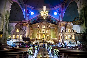 Baclayon, Bohol - Baclayon church (during a wedding)