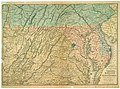 Bacon's topographical map of the seat of war in Virginia, Maryland and Pennsylvania LOC lva0000028.jpg