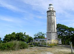 The Bagacay Point Lighthouse located within the town of Liloan