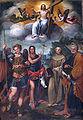 Bagnacavallo Cristo redenor con San Miguel arcángel, San Juan Bautista, San Bernardino y San Pedro San Michele Bagnacavallo.jpg
