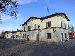 Bahnhof Bobingen Empfangsgebäude Straßenseite