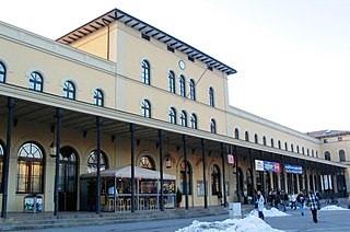 railway station in Augsburg, Germany