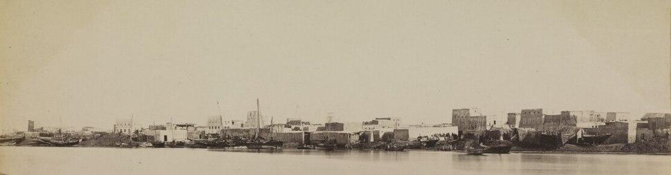 Manama harbour, circa 1870.