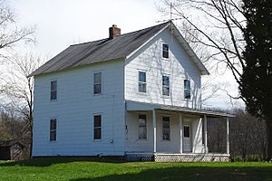 National Register of Historic Places listings in Somerset County, New Jersey - Image: Baker Duderstadt farmhouse, Warren Township, NJ west view