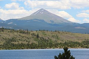 Bald Mountain (Colorado) - Image: Bald Mountain, Summit County, Colorado viewed from Dillon Reservoir