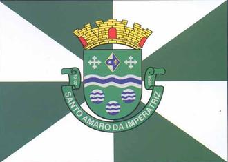 Santo Amaro da Imperatriz - Image: Bandeira Santo Amaro da Imperatriz Santa Catarina Brasil