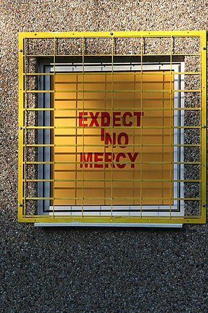"""Expect no Mercy"" shown at the Clubh..."