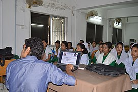 Bangla Wikipedia School Program at Agrabad Government Colony High School (Girls' Section) 73.JPG