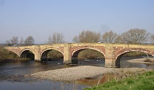 Bangor-on-Dee - Five-arched stone bridge spans the River Dee