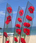 Banners with poppies - Festival of the Winds 2010.jpg