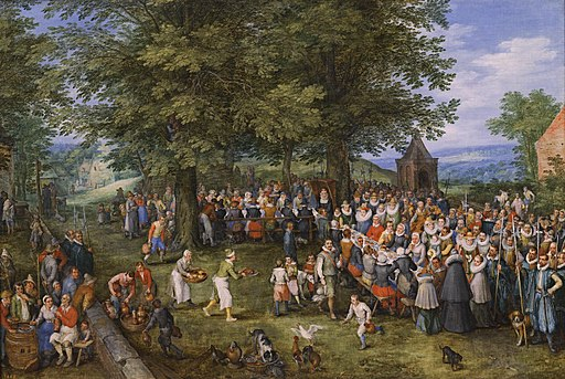 Banquete de bodas presidido por los archiduques Alberto de Austria e Isabel Clara Eugenia (Museo del Prado)