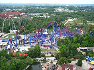 Banshee (roller coaster) - A view of Banshee from the Eiffel Tower