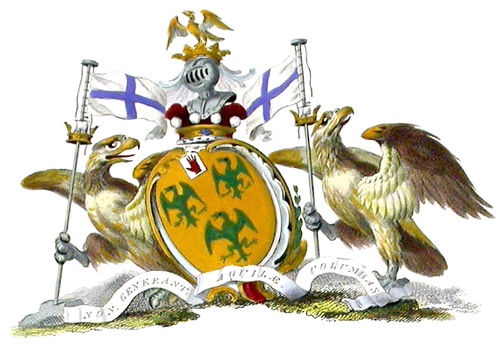 Arms of the Barons Rodney. Baron Rodney coa.png