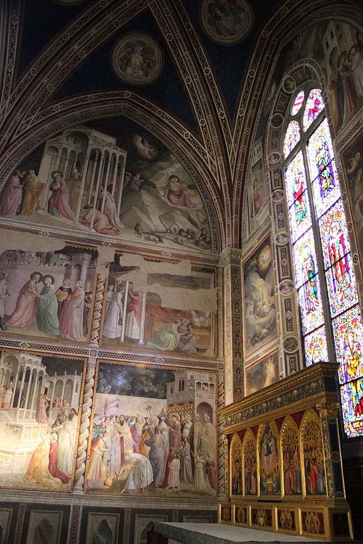 Fresco's van Agnolo Gaddi in de Baroncelli Kapel, Basilica di Santa Croce, Firenze
