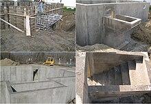 walk up concrete basement constructed using aluminium concrete