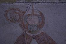 Basilica di Agliate, Battistero, Strappo d'affresco