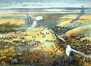 Battle of Fish Creek - Contemporary lithograph of the  Battle of Fish Creek.