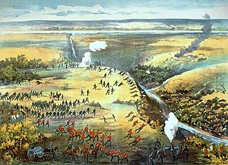 North-West Rebellion - The Battle of Fish Creek was a major Métis victory, persuading Major General Frederick Middleton to temporarily halt his advance.