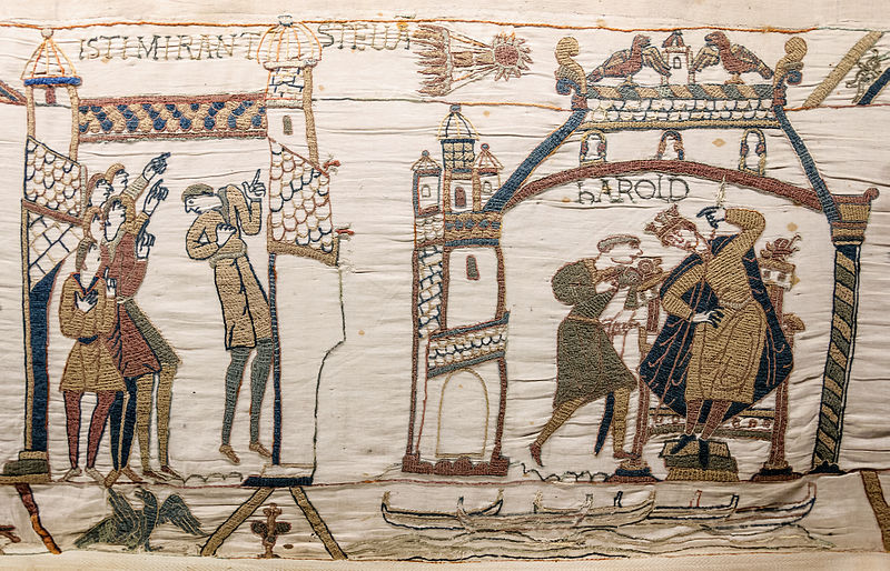File:Bayeux Tapestry 32-33 comet Halley Harold.jpg
