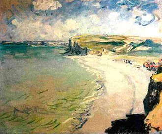 Beach in Pourville - Image: Beach at Pourville