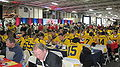 Bears at 2009 Poinsettia Bowl AT&T Team Luncheon at USS Midway Museum 1.JPG