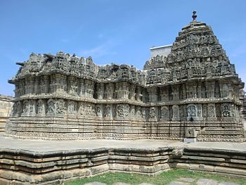 Beautiful view of main temple, Lakshmi narasimhaswami temple, Javagal.jpg