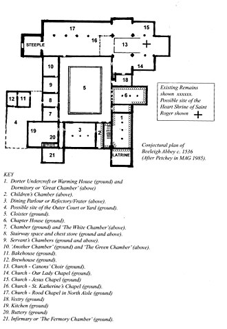Beeleigh Abbey - Image: Beeleigh 1536