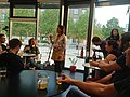 Beer tasting at the Wikimedia Hackathon 2019.jpg