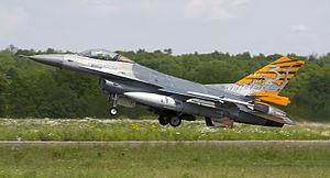 Florennes Air Base - Image: Belgian F 16A (14328669553)