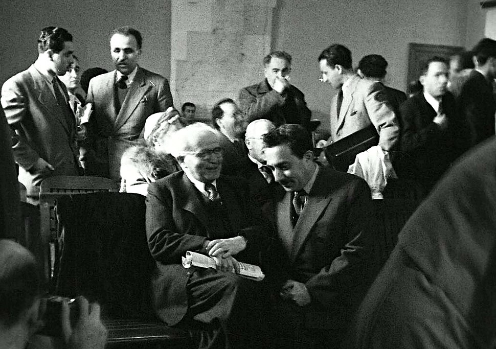 Ben-Gurion & Sharett at Anglo-American Committee 2